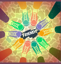 Friendship pairs of shoes vector