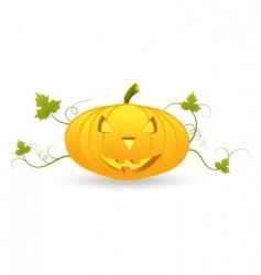 Halloween pumpkin lantern vector image vector image