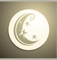 imaginative moon vector image vector image