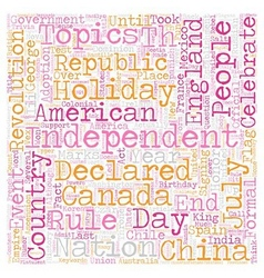 Independence Fever text background wordcloud vector image vector image