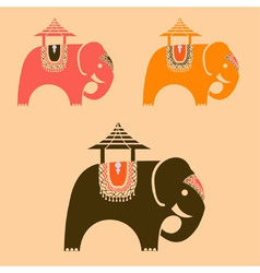 Indian elephants vector