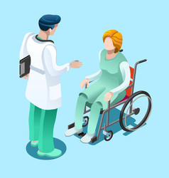 Medical professionals isometric people vector