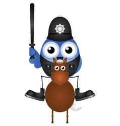 Mounted policeman vector