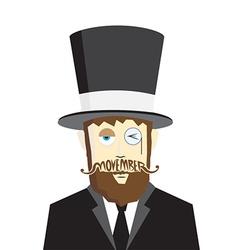 Movember design 2 vector