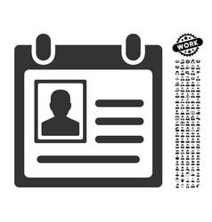 Personal badge icon with work bonus vector
