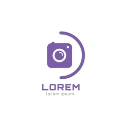 Photo camera logo icon template Photographer logo vector image
