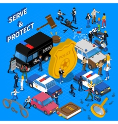 Police Isometric vector image