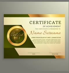 premium luxury certificate of achievement in vector image vector image