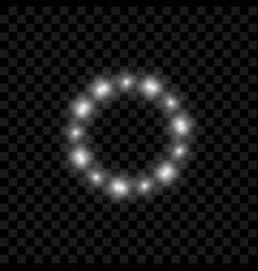 realistic circle of lights with glowing vector image