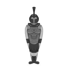 Roman soldier icon black monochrome style vector