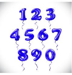 Sapphirine blue number 1 2 3 4 5 6 7 8 9 0 vector