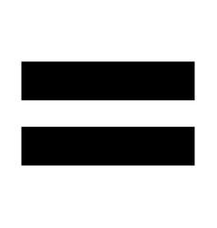 Sign equally black color icon vector