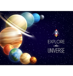 Solar System Realistic Background vector image vector image