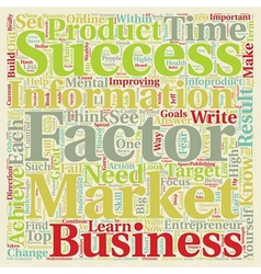 Success factors of wealthy infoproduct marketers vector