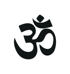 Yoga om sign and symbol simple black icon on white vector
