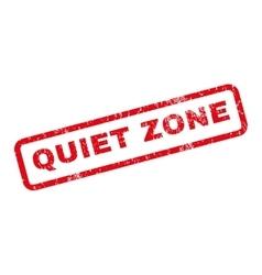 Quiet zone rubber stamp vector