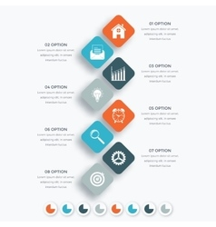 Square infographics with icons vector