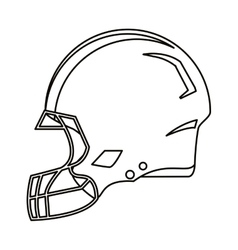 American football helmet protection outline vector