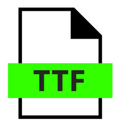 name extension ttf type vector image