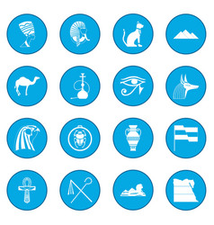 egypt icon blue vector image