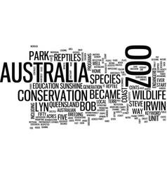 Australia zoo text background word cloud concept vector