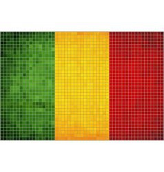 Abstract mosaic flag of mali vector