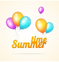 Summer ballon card vector