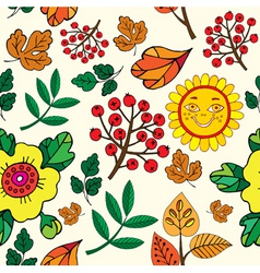 autumn print pattern vector image
