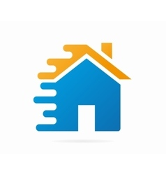 Logo house in motion vector