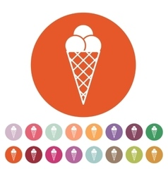 The ice-cream icon ice cream symbol flat vector