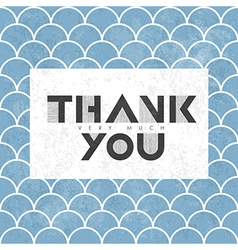 Thank you on scale pattern vector
