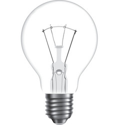 bulb isolated on white background vector image