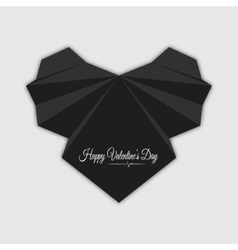 Happy valentines day abstract black heart vector