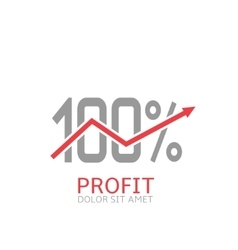 Business profit label vector