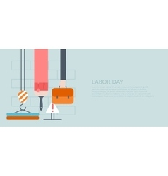Modern flat labor day or 1 may vector