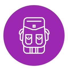 Backpack line icon vector