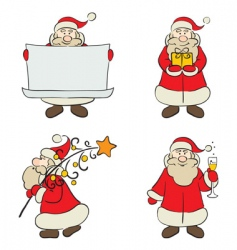 a set of santa claus vector image vector image