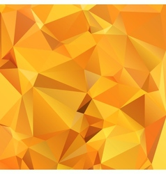 Abstract gold orange background polygon vector image vector image