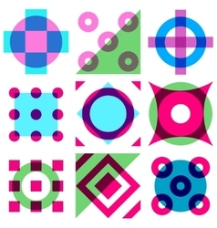 Abstract vintage geometric seamless pattern with vector image vector image