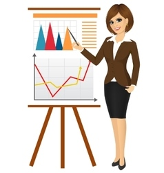 business woman making a presentation vector image vector image