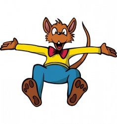 cartoon mouse vector image vector image