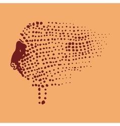 cave drawings sheep vector image vector image