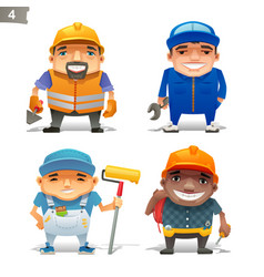 construction professions set-2 vector image vector image
