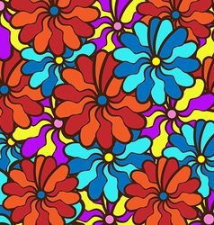 floral background field of multi colored bright vector image vector image