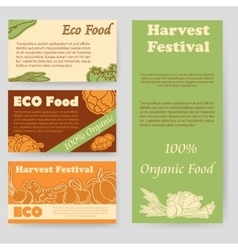 Harvest festival and eco food flyer vector