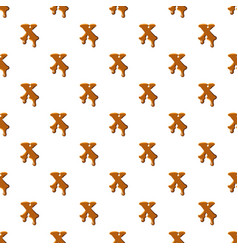 Letter x from caramel pattern vector
