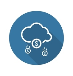 Make Money Icon Business Concept Flat Design vector image