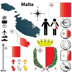Malta map vector image