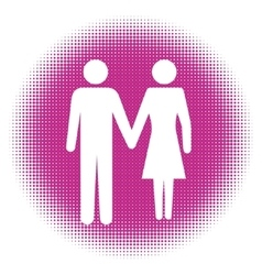 Man and Woman icon art vector image