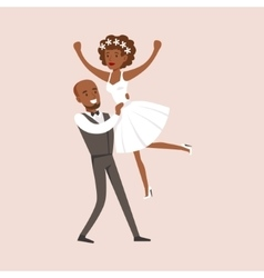 Newlyweds Doing Dirty Dancing Finale At The vector image